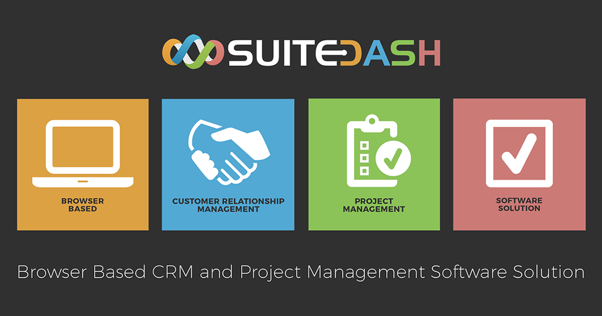 Browser Based CRM And Project Management Software SuiteDash - Project management software with invoicing