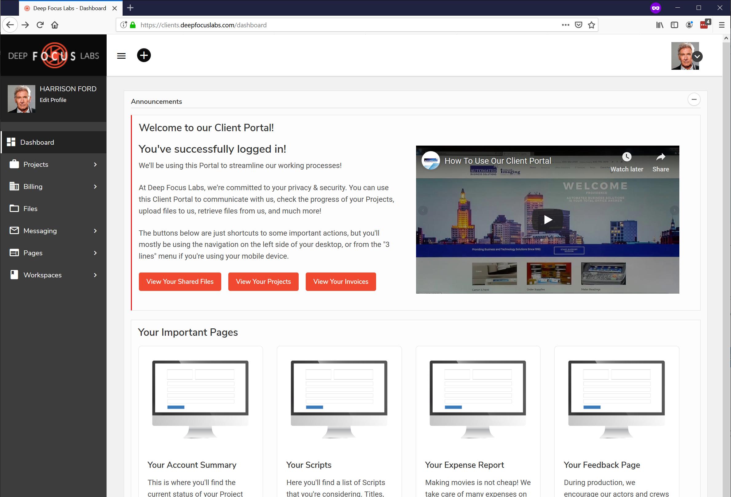 SuiteDash Client Portal